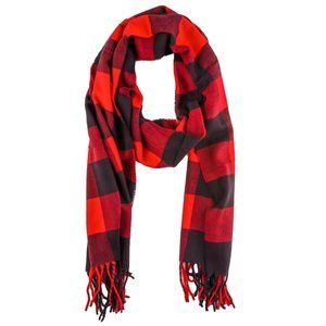 Buffalo Check Lightweight Scarf   Red/Black